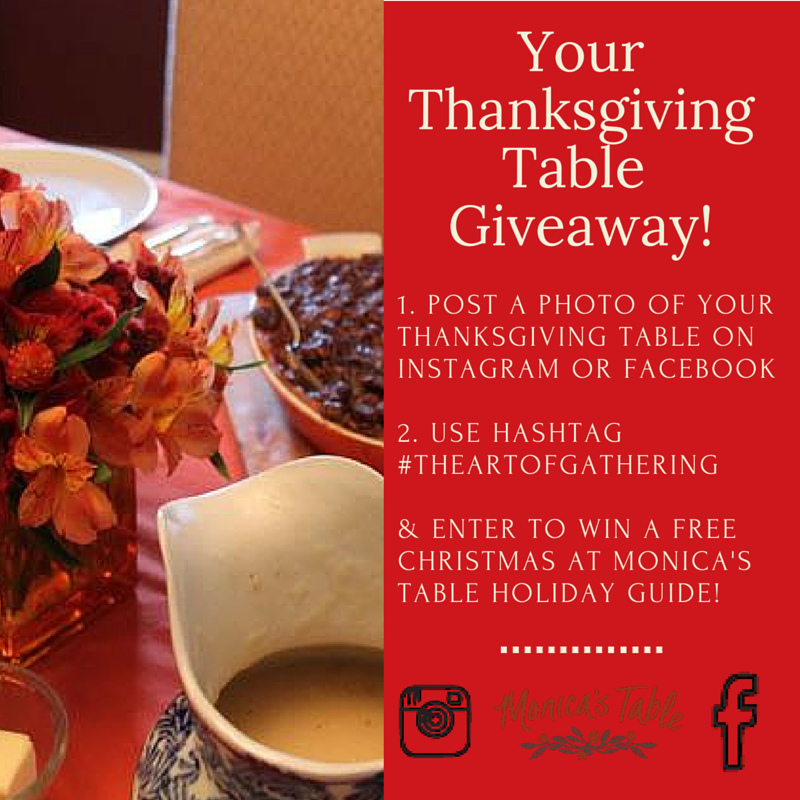 Your Thanksgiving Table Giveaway Blog Graphic