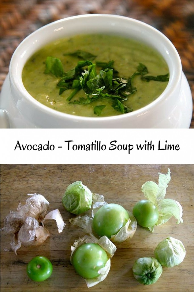 Avocado - Tomatillo Soup with Lime