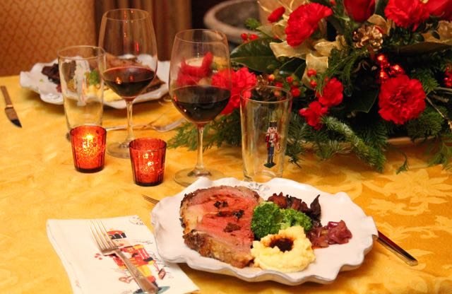 An Elegant Prime Rib Dinner for the Holiday