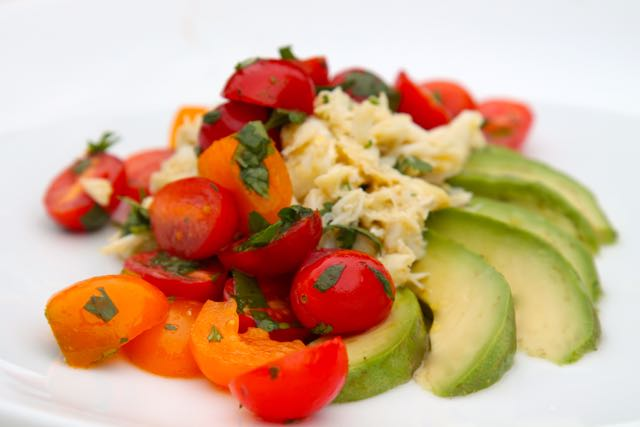 Crab Salad with Chili, Tomato and Avocado